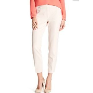Adrianna Papell Kate Fitted Pants Blush Pink Sz 10